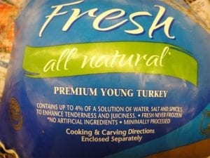 Four percent solution injected turkey